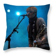 Inem Blue Throw Pillow