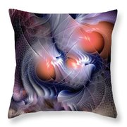 Inexplicable Convergence Throw Pillow