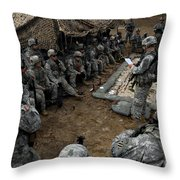 Infantrymen Receive Their Safety Brief Throw Pillow