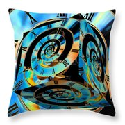 Infinity Time Cube Throw Pillow
