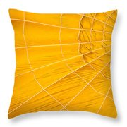 Inflating Folds Of Yellow Throw Pillow