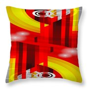 Information Superhighway Throw Pillow by Angelina Tamez