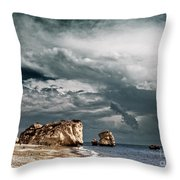 Infrared Aphrodite Rock Throw Pillow
