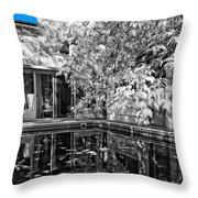Infrared Summer Throw Pillow