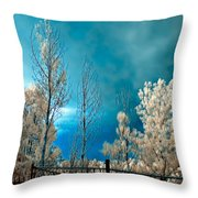 Infrared Summer Storm Throw Pillow