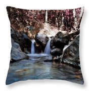 Infrared Waterfall Throw Pillow