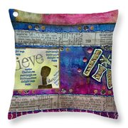 Infuse Me With Laughter Throw Pillow