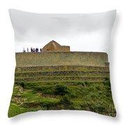 Ingapirca Inca Ruins   Ecuador Throw Pillow
