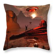 Inhabitants Of The Fabled City Throw Pillow