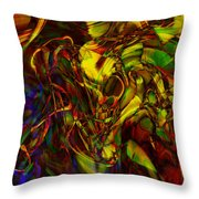 Injections Throw Pillow