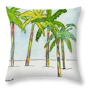 Inked Palms Throw Pillow
