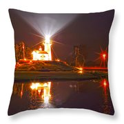 Inland Lighthouse In Indiana Throw Pillow