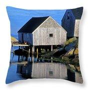 Inlet At Peggys Cove Nova Scotia Throw Pillow