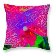 Inner Beauty - Orchid - Gardens Throw Pillow