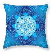 Inner Guidance - Blue Version Throw Pillow