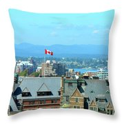 Inner Harbour As Seen  Via Marriot Window Throw Pillow