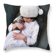 Innocence Is Bliss Throw Pillow