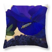 Insect On Flower Throw Pillow
