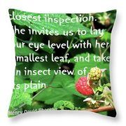 Insect View Throw Pillow
