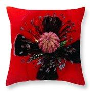 Inside A Poppy Throw Pillow