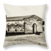 Inside Fort Mifflin - Phildalphia Throw Pillow
