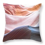 Inside Lower Antelope Canyon Throw Pillow