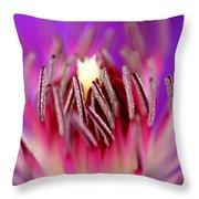 Inside Of A Flower Throw Pillow