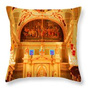 Inside St Louis Cathedral Jackson Square French Quarter New Orleans Accented Edges Digital Art Throw Pillow