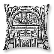 Inside St Louis Cathedral Jackson Square French Quarter New Orleans Photocopy Digital Art Throw Pillow by Shawn O'Brien