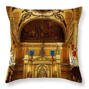 Inside St Louis Cathedral Jackson Square French Quarter New Orleans Poster Edges Digital Art Throw Pillow by Shawn O'Brien