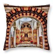 Inside St. Nicholas Chapel At A Greek Monastary In Florence Az Throw Pillow