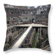 Inside The Colosseum Throw Pillow