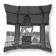 Inside The Lighthouse Tower. Uostadvaris. Lithuania. Throw Pillow