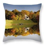 Inspiration Lake In Autumn Throw Pillow