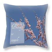Inspirational Flowering Tree Throw Pillow