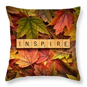 Inspire-autumn Throw Pillow