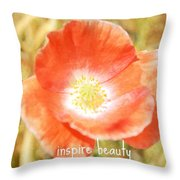 Inspire Beauty Poppy Floral Throw Pillow