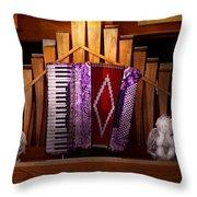Instrument - Accordian - The Accordian Organ  Throw Pillow