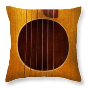 Instrument - Guitar - Let's Play Some Music  Throw Pillow
