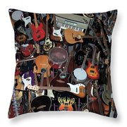 Instruments Throw Pillow