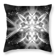Intelligent Design Bw 1 Throw Pillow by Angelina Vick