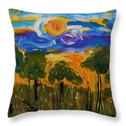 Intense Sky And Landscape Throw Pillow