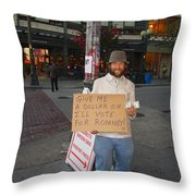 Interesting Way To Panhandle Throw Pillow