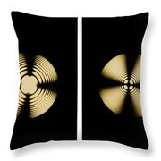 Interference Patterns Throw Pillow
