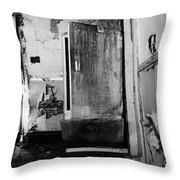 Interior In Black And White Throw Pillow