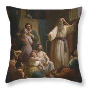 Interior Of Noah's Ark Throw Pillow by Joaquim Ramirez