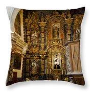 Interior San Xavier Mission Throw Pillow