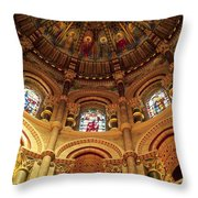 Interiors Of A Cathedral, St. Finbarrs Throw Pillow