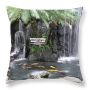 International Marketplace - Waikiki Throw Pillow
