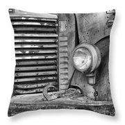 International Truck Black And White Throw Pillow